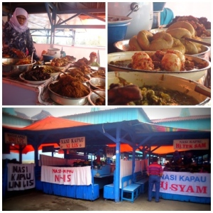Nasi Kapau di Pasar Atas