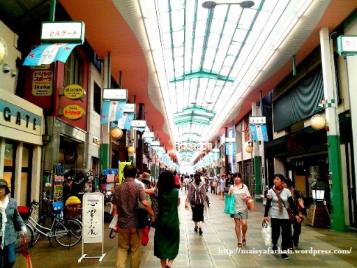 Teramachi Shopping Complex. Saya lebih suka suasana tempat belanja seperti ini ketimbang mal.