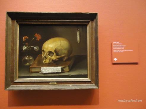 Tengkorak sebagai objek pusat dalam vanitas still lifes