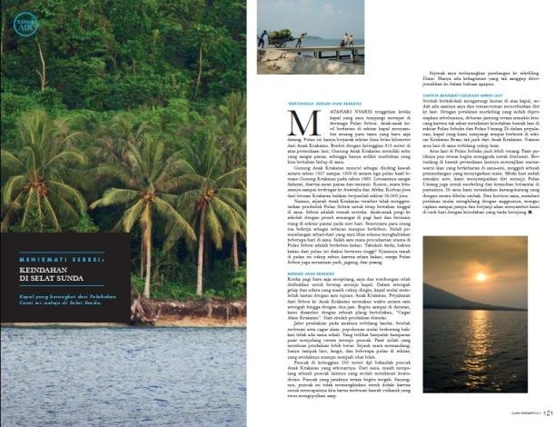 Cuplikan tulisan rubrik Tanah Air di CLARA Magazine edisi Desember 2014