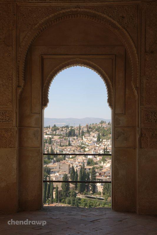 Pemandangan lanskap Granada